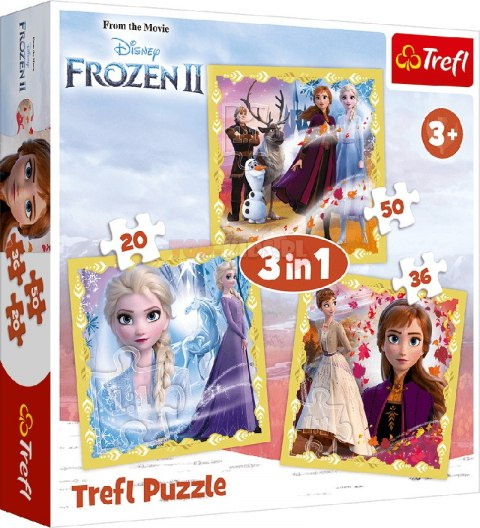 Moc Anny i Elsy, puzzle 3w1